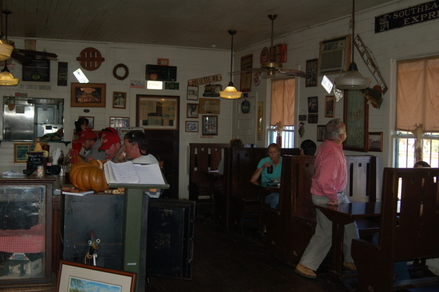 the whistle stop cafe, interior