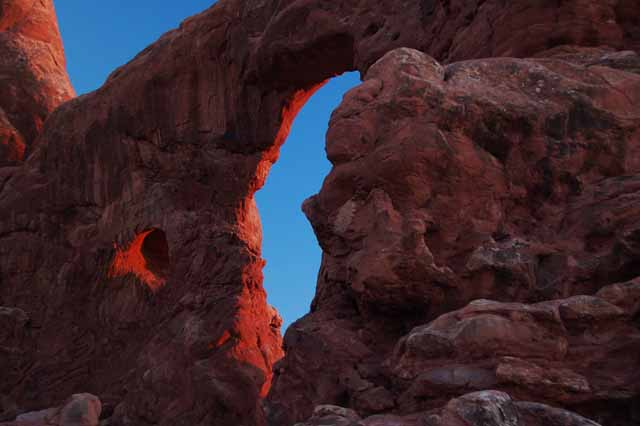 Turret Arch at sunset