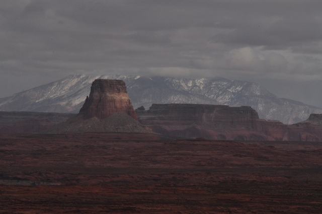Tower Butte and Navajo Mountain