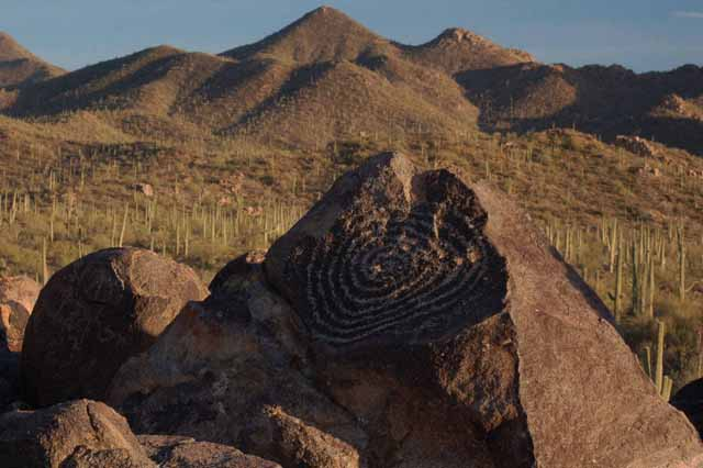 Petroglyphics on the Signal Hill Trail at Saguaro National Park