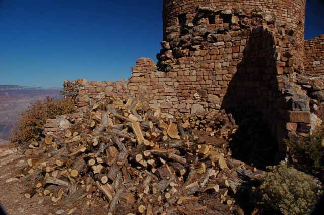 firewood at the Watchtower