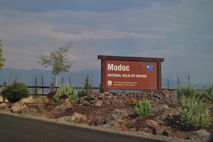 entrance to the Modoc National Wildlife Refuge