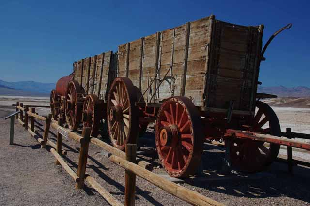 20-mule teams pulled these wagons of borax from the mines