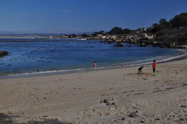 The beach at Lover's Point Park, Pacific Grove