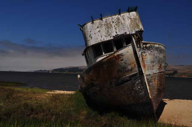 shipwreck on Tomales Bay at Inverness