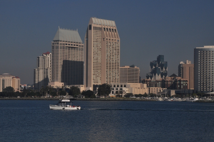 the San Diego skyline from the Coronado ferry landing