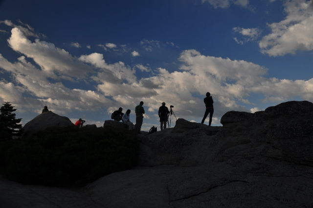 people photographing the view at Glacier Point