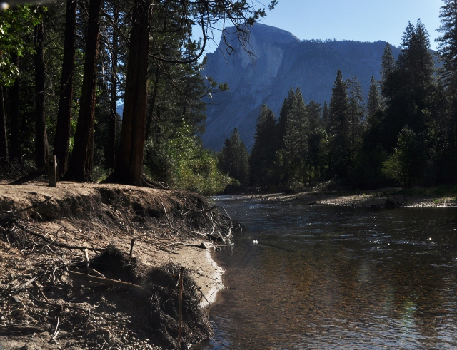the Merced River in the valley