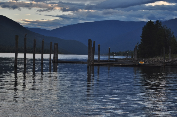 Balfour's Birch Grove RV Park overlooking Kootenay Lake west arm