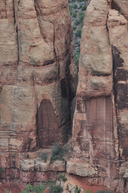 seemingly doors into the rock
