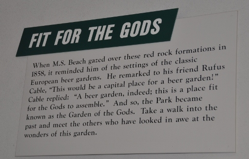 How Garden of the Gods got its name