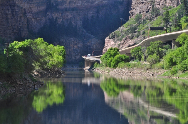 the Glenwood Canyon bike path