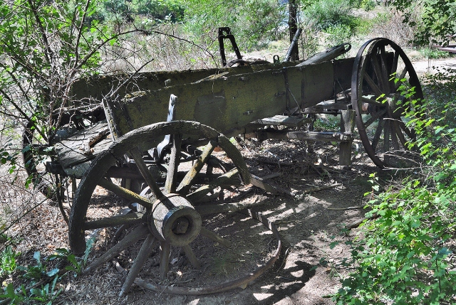 Old wagon along the Glenwood Canyon bike path