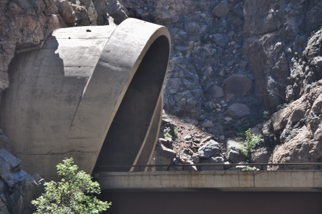 view of tunnel from the Glenwood Canyon bike path