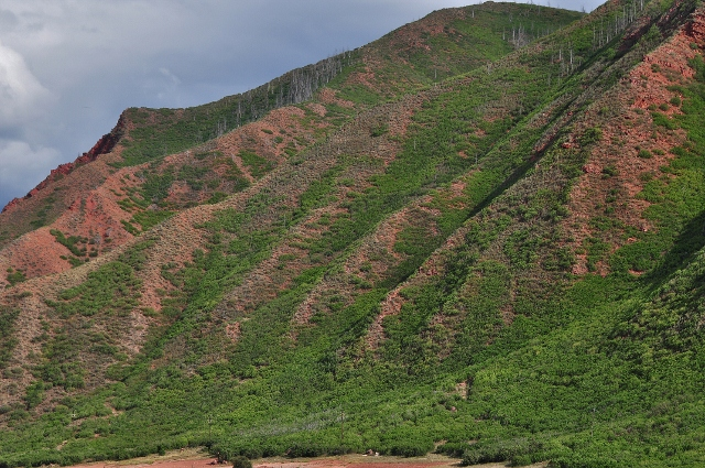 Coal Ridge west of Glenwood Springs on the I-70