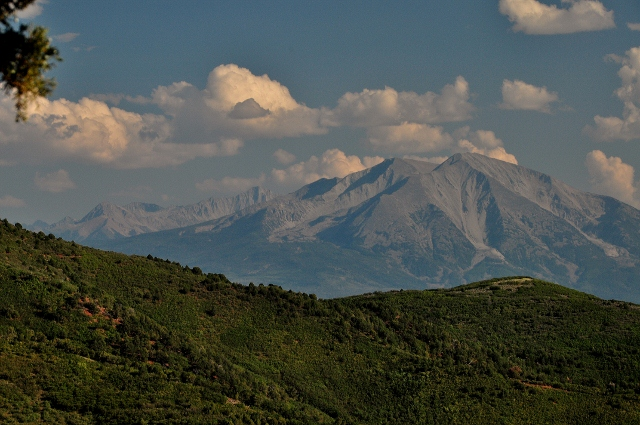 Mt Sopris from Glenwood Caverns Adventure Park on Ironwood Mountain