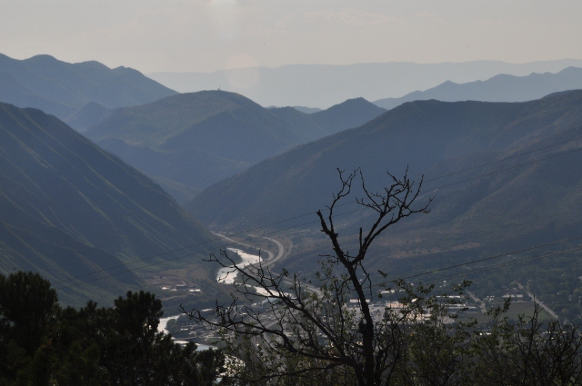 Looking west from Ironwood Mountain in Glenwood Springs