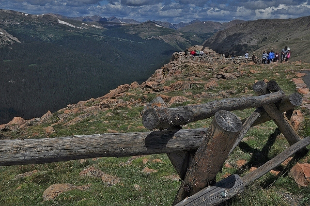 View from the Forest Canyon Overlook on the Trail Ridge Road