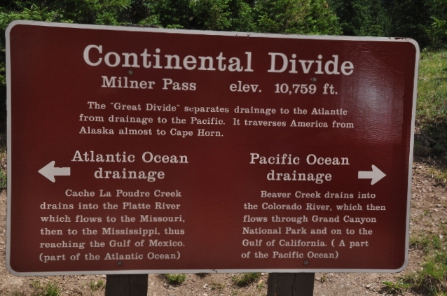 The Continental Divide at Milner Pass