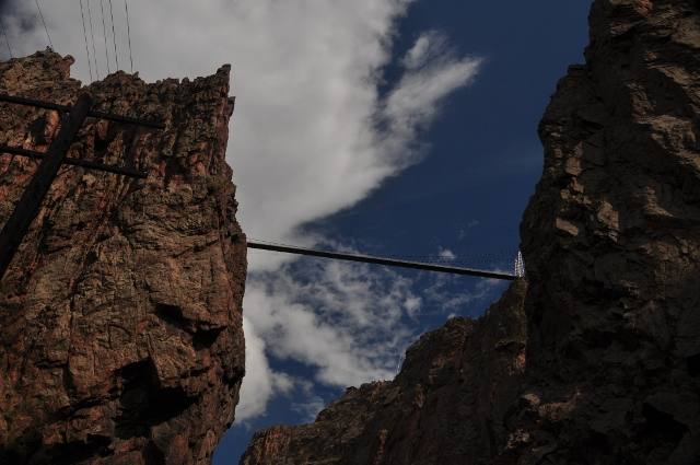 the bridge from Royal Gorge Train ride