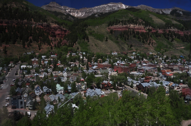 Telluride as seen from the gondola