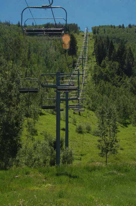 A ski lift in Vail