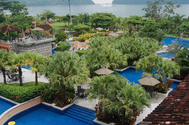 The grounds of the Los Suenos Marriott Ocean and Golf Resort