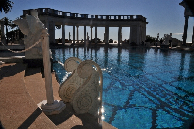 the outdoor pool at the William Hearst Castle