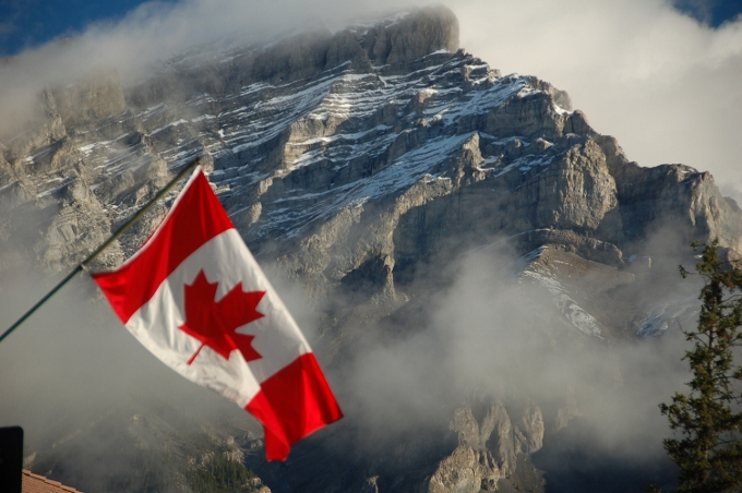 The Canadian Flag, Banff