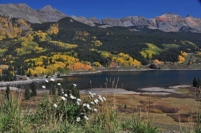 Trout Lake in fall, Highway 145 Colorado