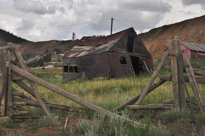 old dilapidated barn in Cripple Creek, Colorado