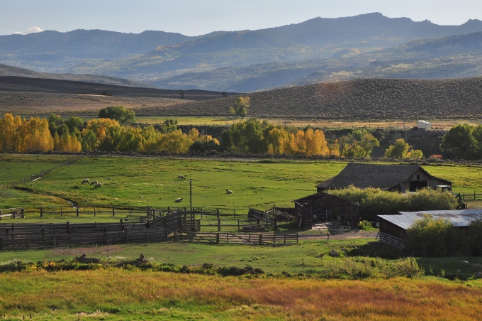 farm and countryside, West Elk Scenic Byway, Colorado