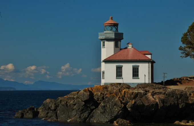 The lighthouse at Lime Kiln State Park, San Juan Island