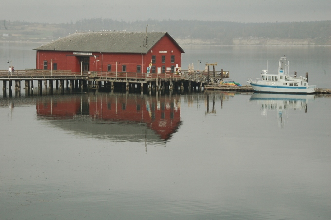 Restaurant on water, Coupeville, Whidbey Island