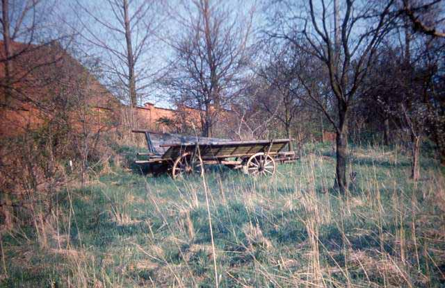 a farmer's abandoned wagon