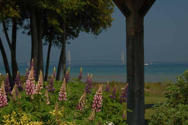 Looking out over Lake Huron from the Mill Creek Campground