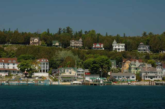 Mackinac Island from the boat