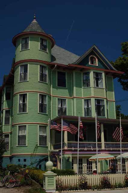 One of many old Victorian homes on Mackinac Island