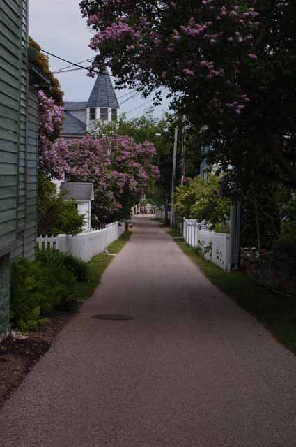 a residential side street