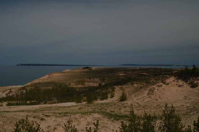 looking north at the Manitou Islands