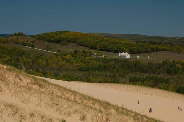The view from atop the Dune Climb
