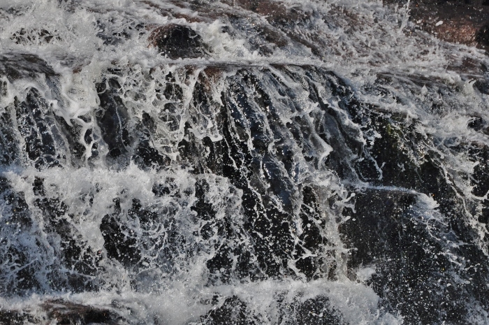 closeup of the waterfall