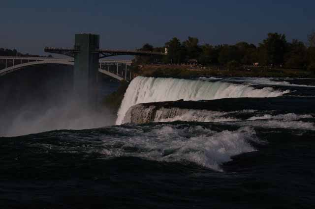 The American falls looking toward Rainbow Bridge