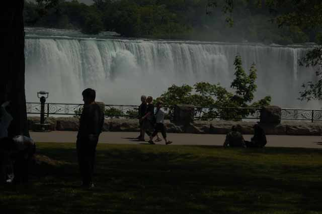 The Canadian side of the falls