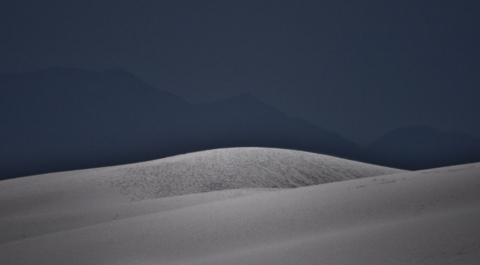 white dunes at night