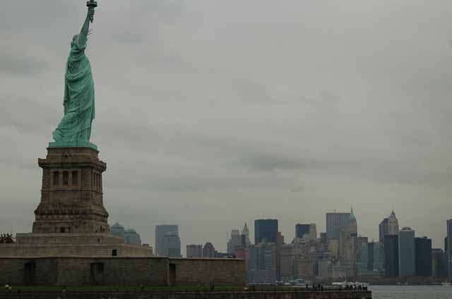 Lady Liberty and the NYC skyline