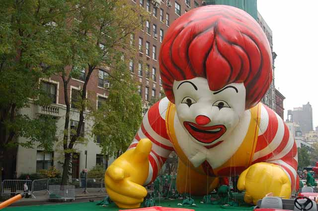 balloon, Ronald McDonald