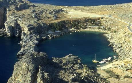 view of surrounding water from lindos