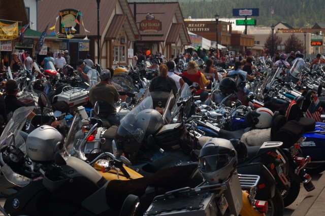 Sturgis bike rally in Hill City