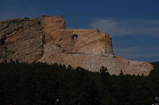 post blasting of memorial at Crazy Horse